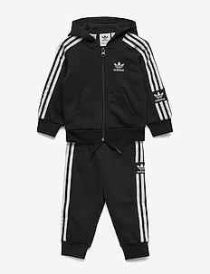 LOCK UP HOODIE - trainingsanzug - black/white