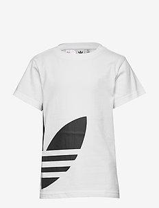 BIG TREFOIL TEE - WHITE/BLACK