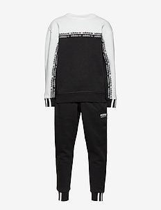 CREW - trainingsanzug - black/white