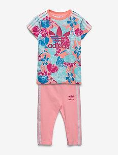 TEE DRESS SET - 2-delte sæt - glopnk/multco/bopink