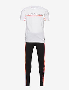 TEE LEGGING SET - trainingsanzug - white