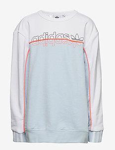 CREW - sweatshirts - skytin/white