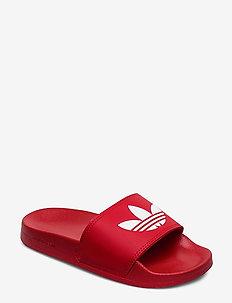 ADILETTE LITE J - flip-flops & badeschuhe - scarle/ftwwht/scarle