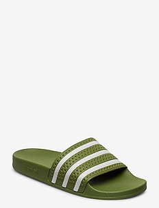 ADILETTE - sneakers - forgrn/supcol/forgrn