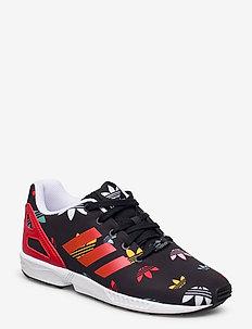 ZX FLUX C - sneakers - cblack/lusred/ftwwht