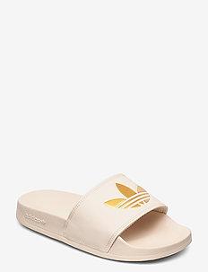 ADILETTE LITE W - sneakers - linen/goldmt/linen