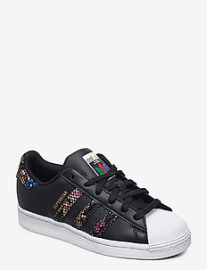 SUPERSTAR W - lage sneakers - cblack/ftwwht/red