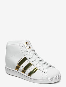 SUPERSTAR UP W - høje sneakers - ftwwht/goldmt/cblack