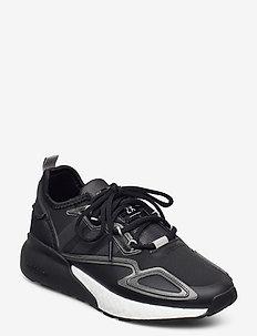 ZX 2K BOOST W - lage sneakers - cblack/cblack/ftwwht