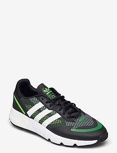 ZX 1K BOOST - lave sneakers - cblack/ftwwht/sgreen