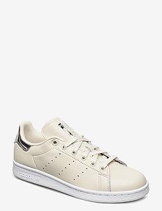 STAN SMITH W - low top sneakers - owhite/owhite/silvmt