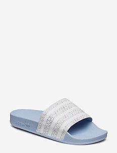 ADILETTE W - sneakers - periwi/ftwwht/periwi