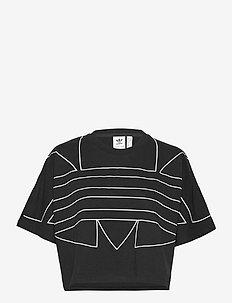 LRG LOGO TEE - sportstopper - black/white