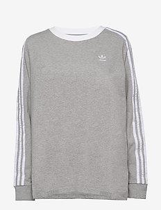 3 STR LS - långärmade tröjor - mgreyh/white
