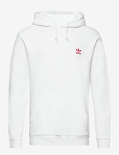 ESSENTIAL HOODY - basic sweatshirts - white/scarle