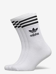 Mid Cut Crew Socks 3 Pairs - vanliga strumpor - white/black