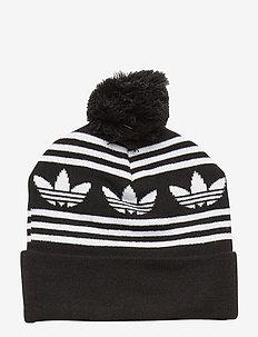 AC JACQUARD POM - bonnet - black/white