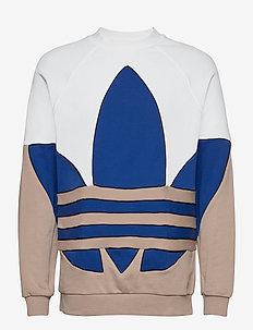 B TRF OUT CREW - sweatshirts - white/trakha/royblu