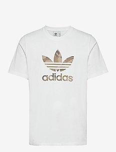 Camo Trefoil T-Shirt - tops - white/wlpime/multco