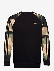 Camo Stripes Crewneck Sweatshirt - overdeler - black/wilpin/multco