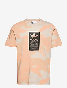Camo Tongue Label T-Shirt - short-sleeved t-shirts - alumin/multco/black