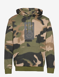 Camo Allover Print Hoodie - hupparit - wilpin/multco/black