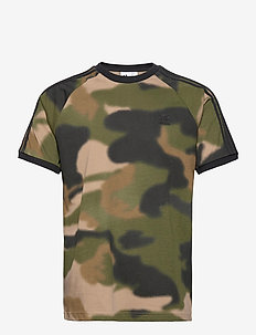 Camo 3-Stripes T-Shirt - urheilutopit - wilpin/multco/black
