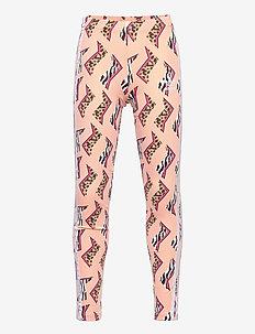 Allover Print Leggings - leggings - glopnk/multco/white