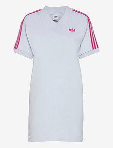 Adicolor 3D Trefoil T-Shirt Dress W - sommarklänningar - halblu