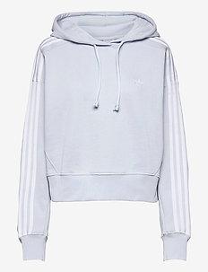Adicolor Classics Crop Hoodie W - hoodies - halblu