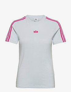 Adicolor 3D Trefoil Slim T-Shirt W - t-shirts - halblu