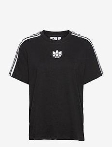 Adicolor 3D Trefoil Loose T-Shirt W - sportstoppe - black