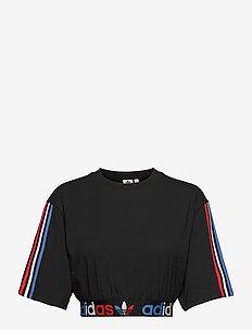 Adicolor Primeblue Tricolor Cropped T-Shirt W - navel shirts - black