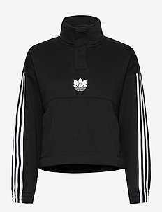 Adicolor 3D Trefoil Fleece Half-Zip Sweatshirt W - sweats et sweats à capuche - black