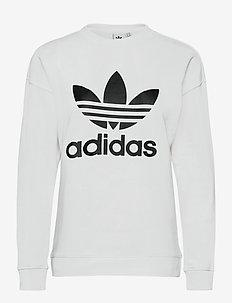 Trefoil Crew Sweatshirt W - sweatshirts - white