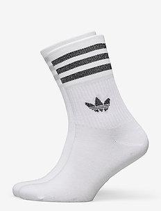 MID CUT GLT SCK - tavalliset sukat - white/silvmt