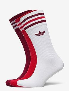 SOLID CREW SOCK - regular socks - white/cburgu/scarle