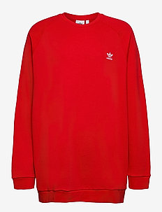 Trefoil Essentials Crewneck Sweatshirt - basic sweatshirts - scarle/white