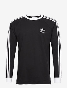 Adicolor Classics 3-Stripes Long Sleeve T-Shirt - pitkähihaiset topit - black