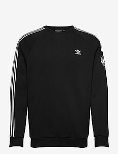 Adicolor 3D Trefoil 3-Stripes Crew Sweatshirt - sweats basiques - black