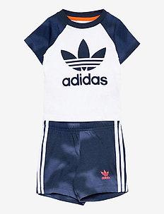 Camo Print Shorts and T-Shirt Set - 2-piece sets - white/creblu/apsord