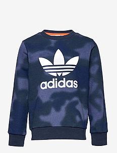 Allover Print Camo Crew Sweatshirt - sweatshirts - creblu/multco/white