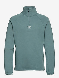 Adicolor Classics Front And Back Trefoil Half-Zip Sweatshirt - basic sweatshirts - hazeme