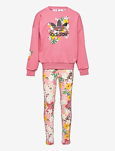 HER Studio London Floral Crew Set - tracksuits - hazros/multco/black