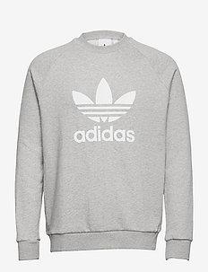 Adicolor Classics Trefoil Crewneck Sweatshirt - tops - mgreyh/white