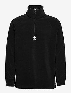 Adicolor Classics Teddy Fleece Half-Zip Jacket - mid layer jackets - black