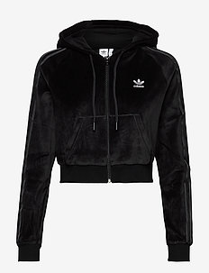 Crop Full Zip Hoodie W - hupparit - black