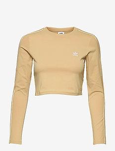 Crop Long Sleeve T-Shirt W - langærmede toppe - hazbei
