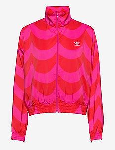 Marimekko Laine Woven Track Jacket W - bluzy i swetry - vivred/terema
