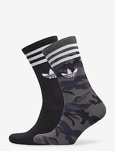 Camo Crew Socks 2 Pairs - vanliga strumpor - gresix/black